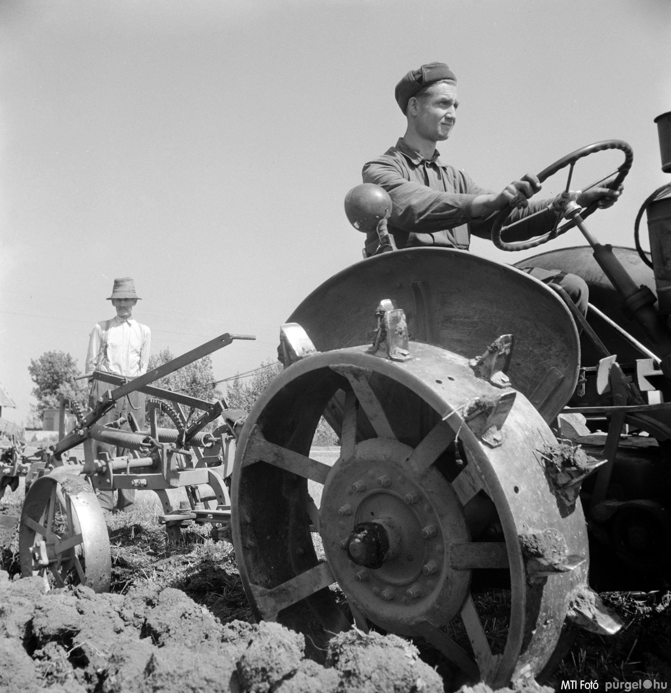 Őszi szántás. Szegvár, 1957. augusztus 24.