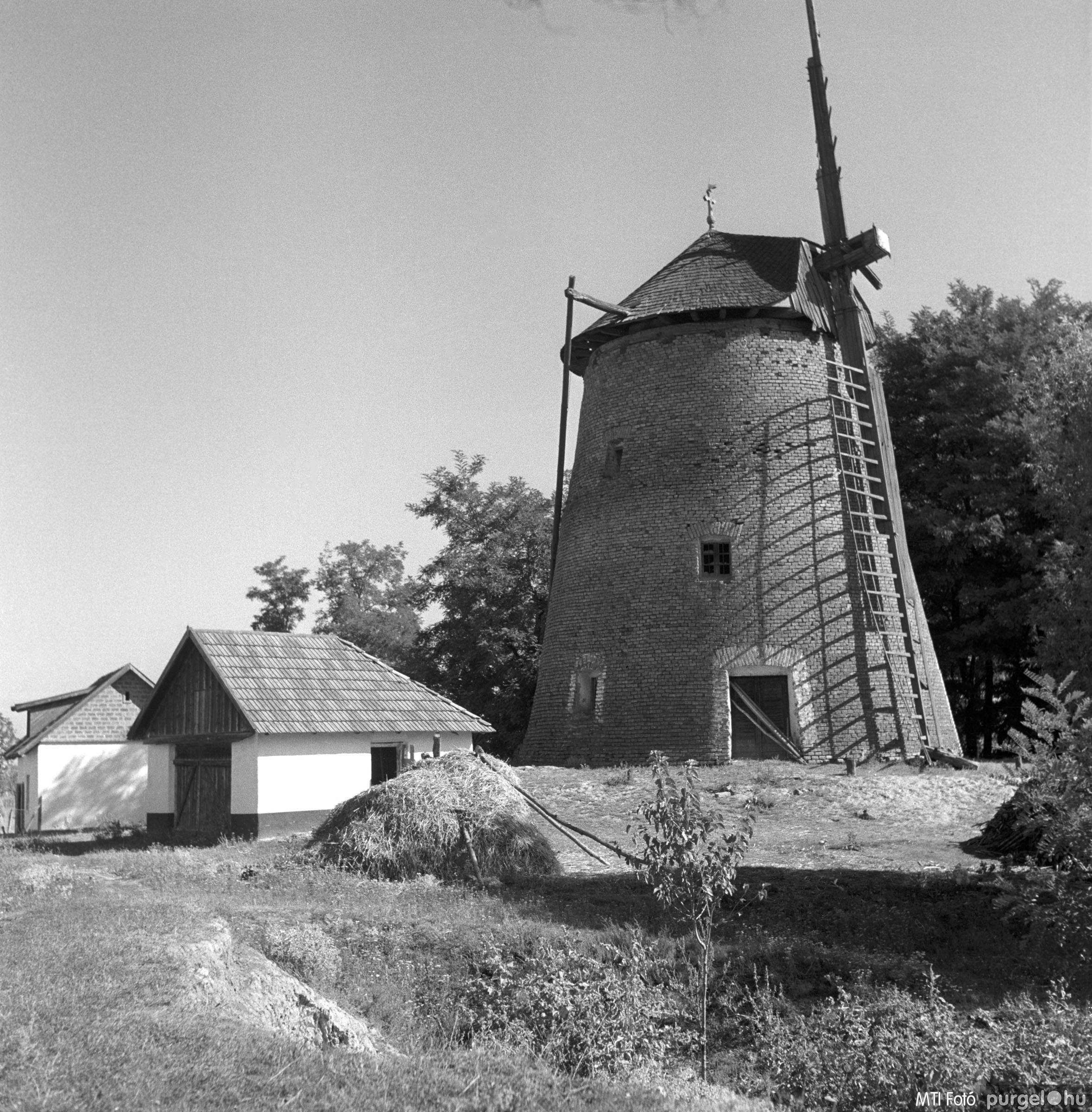 Szegvári szélmalom I. Szegvár, 1962. szeptember 17.